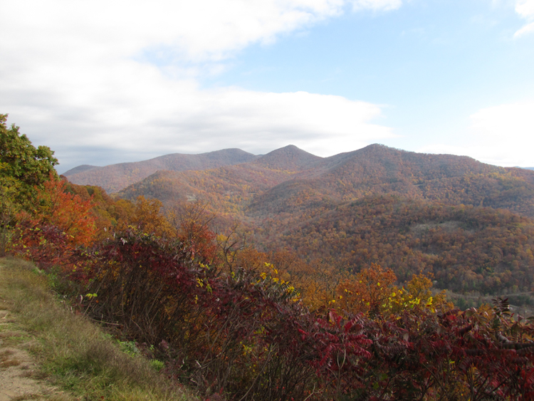 autumn color from Blue Ridge Parkway